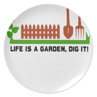 Life and Garden dig it Plate