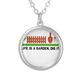 Life and Garden dig it Silver Plated Necklace