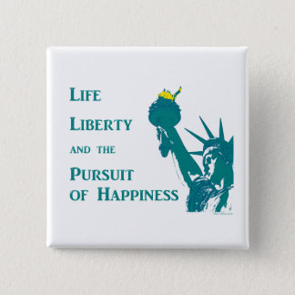 Life and Liberty 2 Inch Square Button