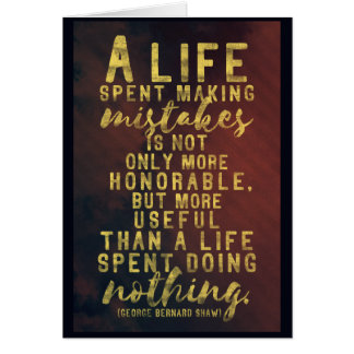 Life and mistakes quote note card