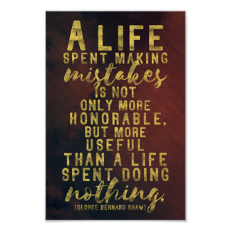 Life and mistakes quote poster