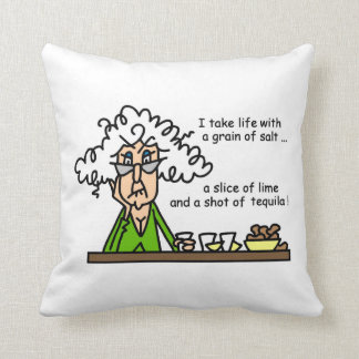 Life and Tequila Humor Throw Pillow
