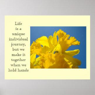 Life art Print Individual Journey Together