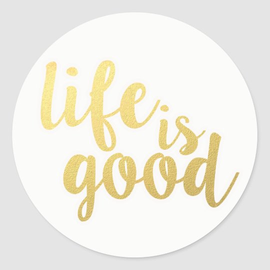 Life Attitude Motivational Quote Dreams Happiness Classic Round Sticker