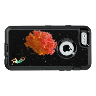 LIFE, AUTUMN FLOATING LEAVES by Slipperywindow OtterBox Defender iPhone Case