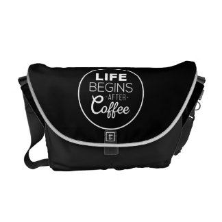 Life Begins After Coffee Courier Bag