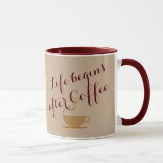 Life Begins After Coffee Custom Mug
