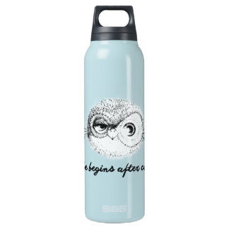 LIFE BEGINS AFTER COFFEE INSULATED WATER BOTTLE