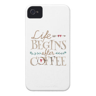 Life Begins After Coffee iPhone 4 Cover