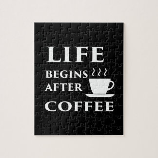 Life Begins After Coffee Puzzle