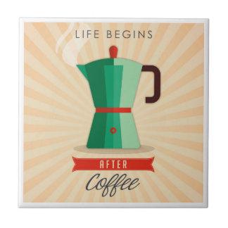 Life Begins After Coffee Tile
