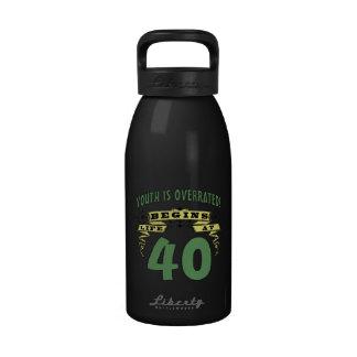 Life Begins At 40th Birthday Drinking Bottles