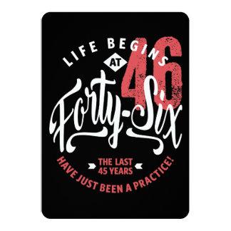 Life Begins at 46 | 46th Birthday Card