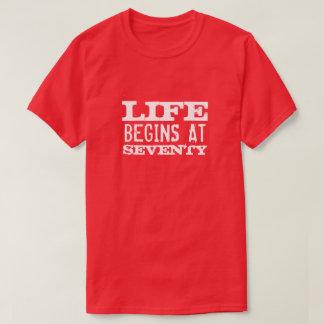 Life begins at 70 Funny 70th Birthday party shirt