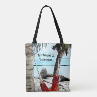 Life Begins at Retirement - Tote Bag