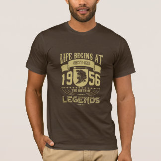 Life begins at sixty one 1959, the birth of Legend T-Shirt