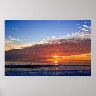 Life Begins At Sunset Poster