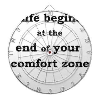 life begins at the end of your comfort zone dartboard