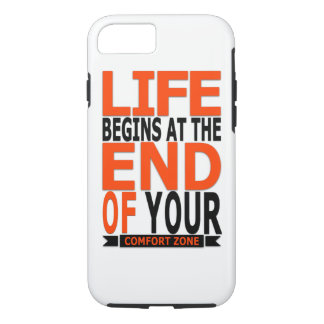 Life begins t the end of your comfort zone iPhone 8/7 case
