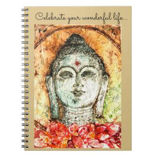 Life Buddha Watercolor Art Spiral Notebook