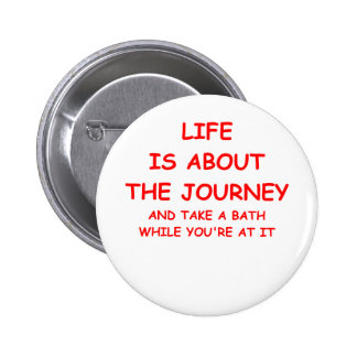 life pinback button