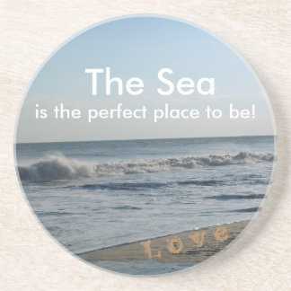Life By the Sea Beach Sand Drink Coasters