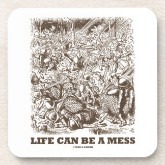 Life Can Be A Mess (Wonderland Looking Glass) Drink Coasters