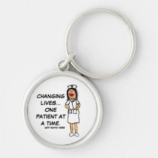 Life Changing Nurse Cartoon Keychain