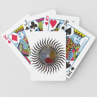 Life circle bicycle playing cards