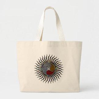 Life circle large tote bag