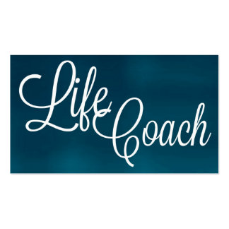 Life Coach Brushed Business Card