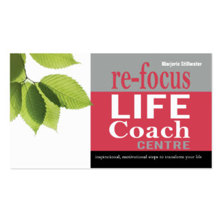 Life Coach Centre Personal Goals Motivational Business Cards