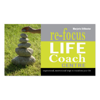Life Coach Centre Personal Goals Motivational Business Card Template