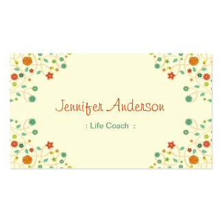 Life Coach  - Chic Nature Stylish Pack Of Standard Business Cards