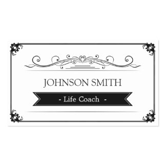 Life Coach  - Classy Vintage Frame Pack Of Standard Business Cards