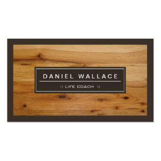 Life Coach  - Classy Wood Grain Look Pack Of Standard Business Cards
