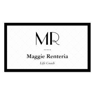 Life Coach  - Clean Stylish Monogram Double-Sided Standard Business Cards (Pack Of 100)