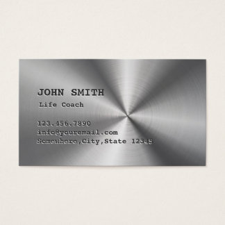 Life Coach Counseling Faux Metal Business Card