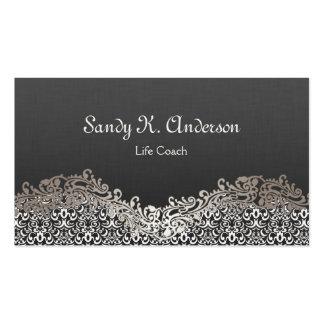 Life Coach  - Elegant Damask Lace Pack Of Standard Business Cards