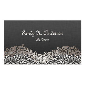 Life Coach  - Elegant Damask Lace Pack Of Standard Business Cards