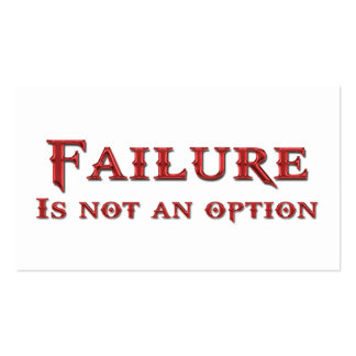 Life Coach Failure Is Not An Option Business Cards