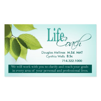 Life Coach I Personal Goals Spiritual Counseling Business Card
