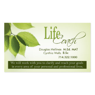 Life Coach I Personal Goals Spiritual Counseling Business Card Template