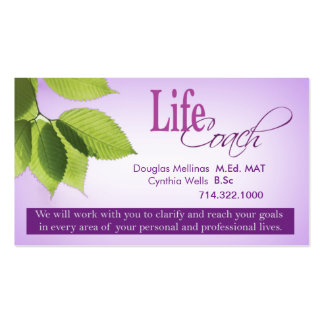 Life Coach I Personal Goals Spiritual Counseling Business Card Templates
