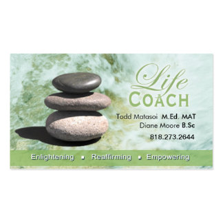Life Coach II Personal Goals Spiritual Counseling Business Card Templates
