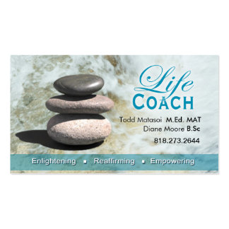 Life Coach II Personal Goals Spiritual Counseling Business Card Template