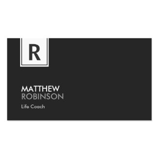 Life Coach  - Modern Classy Monogram Double-Sided Standard Business Cards (Pack Of 100)