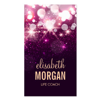 Life Coach  - Pink Glitter Sparkles Pack Of Standard Business Cards