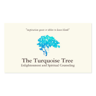 Life Coach Spiritual Counselor Turquoise Tree Pack Of Standard Business Cards