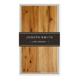 Life Coach  - Stylish Wood Texture Pack Of Standard Business Cards